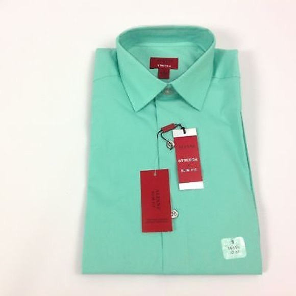 3a6ba83c4 Alfani SlimFit Stretch Mens Dress Shirt Size S New
